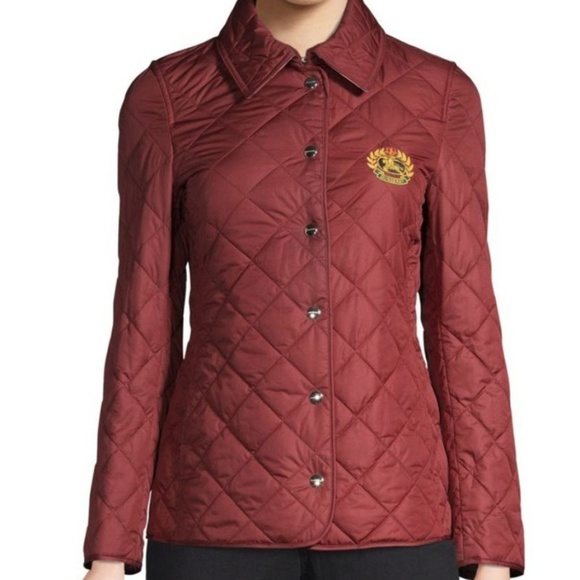 Burberry Jackets & Blazers - Burberry Franwell Quilted Embroidered Crest Jacket